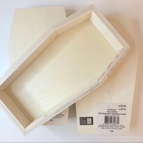 Art Minds Office Nwthalloween Wood Coffin Craft Shadow Box Poshmark